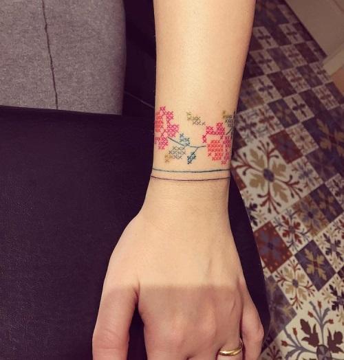 флористическая татуировка
